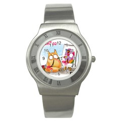 Picatso By Pookiecat Stainless Steel Watch (unisex)