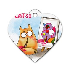 Picatso By Pookiecat Dog Tag Heart (two Sided)