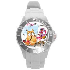 Picatso By Pookiecat Plastic Sport Watch (large)