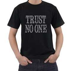 trust no one Mens' Two Sided T-shirt (Black)