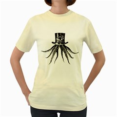 The Octopus  Womens  T-shirt (Yellow)