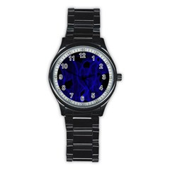 Broken Sport Metal Watch (black)