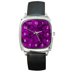 Tangled Square Leather Watch