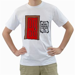 a knock in my door Mens  T-shirt (White)