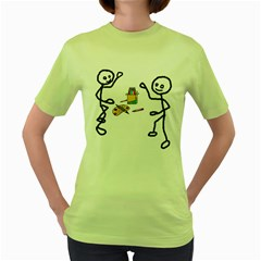 Figthing for their colors Womens  T-shirt (Green)