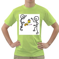 Figthing for their colors Mens  T-shirt (Green)