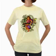 No Swiping  Womens  T-shirt (Yellow)