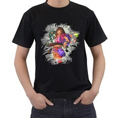 No Swiping Mens' Two Sided T-shirt (Black)