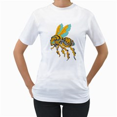 BumbleBot Womens  T-shirt (White)