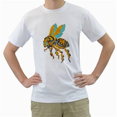 BumbleBot Mens  T-shirt (White)