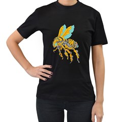 BumbleBot Womens' Two Sided T-shirt (Black)