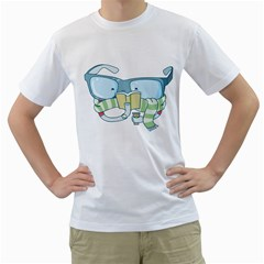 Reading Glasses Mens  T Shirt (white)