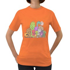 Winking Monsters Womens' T-shirt (Colored)