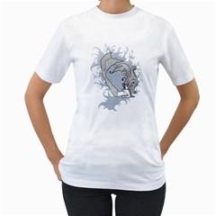 mermaid Womens  T-shirt (White)