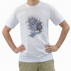 mermaid Mens  T-shirt (White)