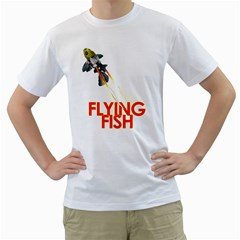 Flying fish Mens  T-shirt (White)