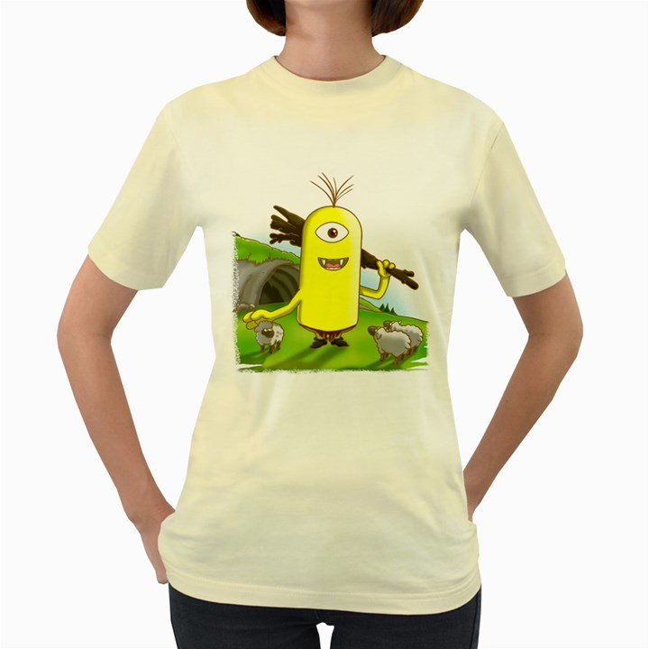 polytimus  Womens  T-shirt (Yellow)