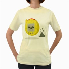Digital Dump  Womens  T Shirt (yellow)