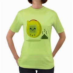Digital Dump Womens  T-shirt (Green)
