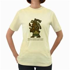 Idol  Womens  T Shirt (yellow)