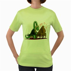 BACHiosaurus Womens  T-shirt (Green)