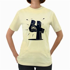 4 Crying Out Loud  Womens  T-shirt (Yellow)
