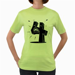 4 Crying Out Loud Womens  T-shirt (Green)
