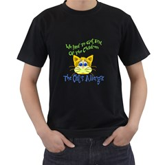 We Had To Get Rid Of The Children The Cats Allergic Mens' Two Sided T Shirt (black)