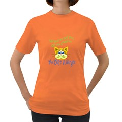 We Had To Get Rid Of The Children The Cats Allergic Womens' T Shirt (colored)