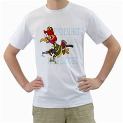 Find Em Hot Keep Em Wet Mens  T-shirt (White)