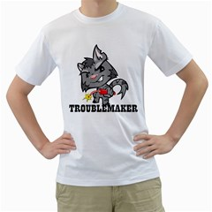 Troublemaker Mens  T-shirt (White)
