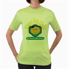 Time Out Club Womens  T-shirt (Green)