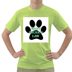 I WANT OSCAR S LAW Mens  T-shirt (Green)