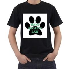 I WANT OSCAR S LAW Mens' T-shirt (Black)