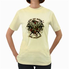 We Are More  Womens  T Shirt (yellow)