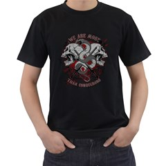 We Are More Mens' Two Sided T-shirt (Black)