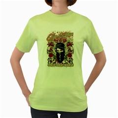 Cold Dead Hands Womens  T-shirt (Green)