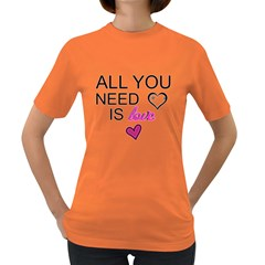 An Ode To The Beatles   All You Need Is Love Womens' T Shirt (colored)