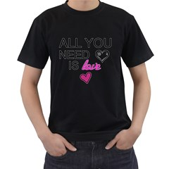 AN ODE TO THE BEATLES - ALL YOU NEED IS LOVE Mens' T-shirt (Black)