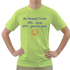 My Personal Traits Mens  T Shirt (green)