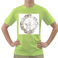 Zombie Disposal Unit Mens  T-shirt (Green)