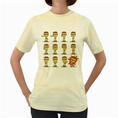 Macarena  Womens  T-shirt (Yellow)