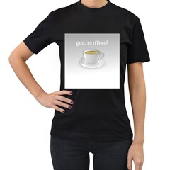 Coffee Lovers Womens' Two Sided T Shirt (black)