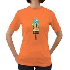 Paint Your World Womens' T Shirt (colored)