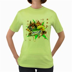 Art Craft Womens  T-shirt (Green)
