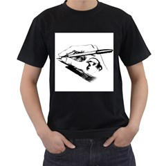 Skillful Hand Mens' Two Sided T-shirt (Black)