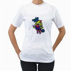 Zombie Cakes! Womens  T Shirt (white)
