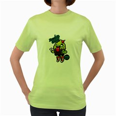 Zombie Cakes! Womens  T-shirt (Green)