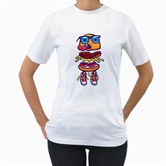 Cool Sandwich Womens  T Shirt (white)