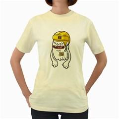 Ghost  Womens  T-shirt (Yellow)
